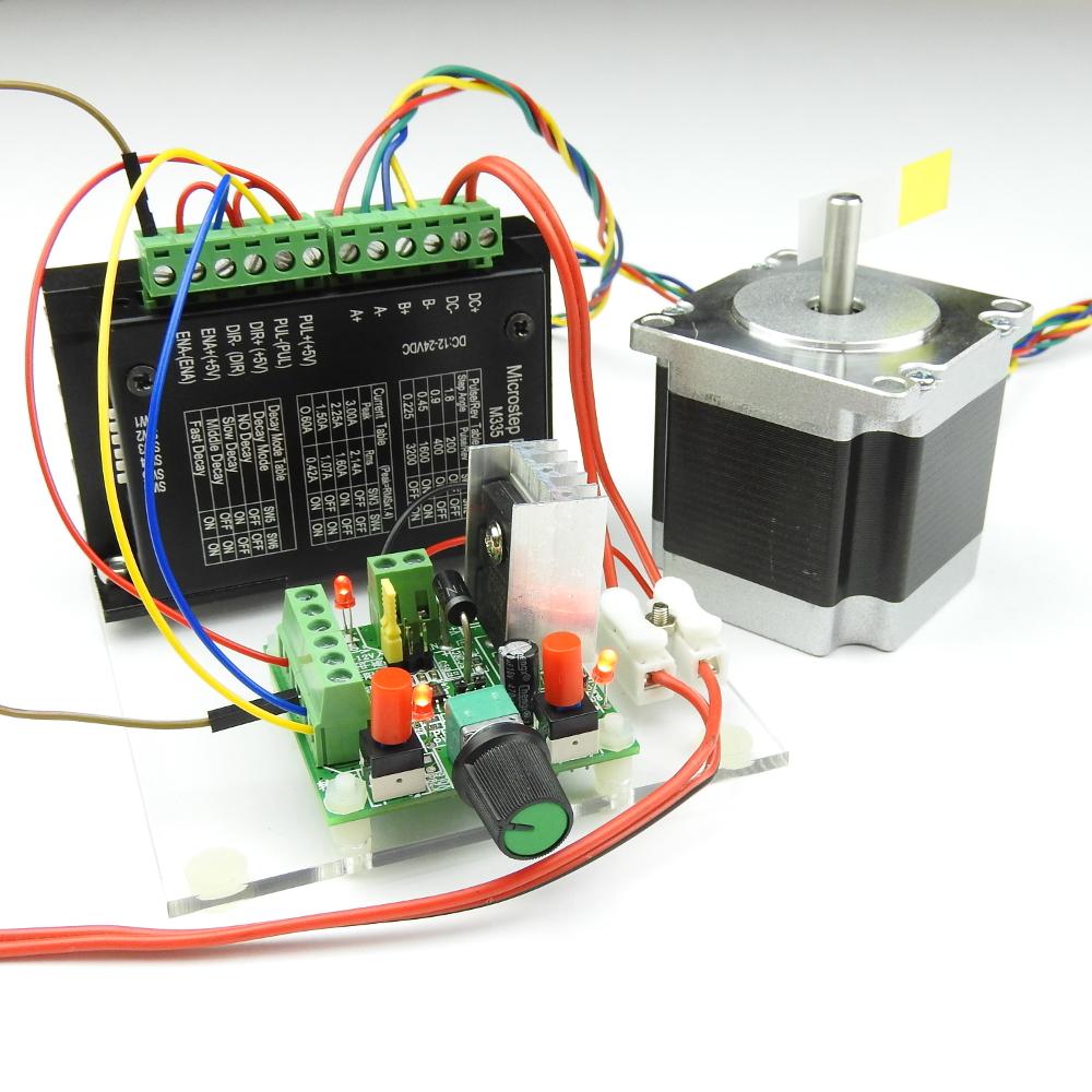 Stepper motor driver and pulse generator maker for Stepper motor pulse generator