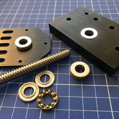 Thrust Bearings, Lead Screw, Threaded Rod and C-Beam End Plates - Nice!